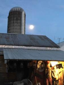 Moon and silo n