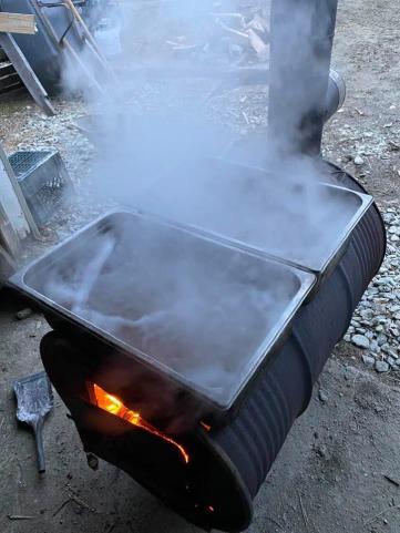 Boiling sap!